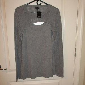 Torrid size 2/2X gray sweater NWT